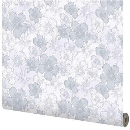 Обои Цветы на флизелиновой основе цвет серый 1.06х10 м