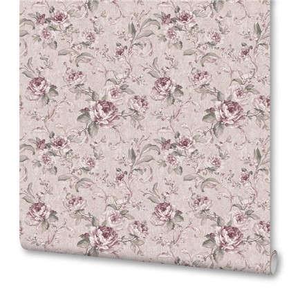 Обои ED1016-2 бумажные  цвет розовый 0.53x10 м