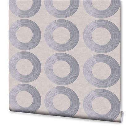 Обои флизелиновые 1.06х10 м круги цвет серый ER 4096-11