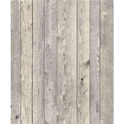 Обои флизелиновые Доска 0.53х10 м цвет серый Па 81002-42
