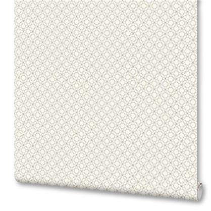 Обои Геометрия флизелиновые цвет белый 0.53х10 м