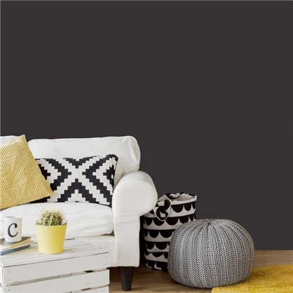 Обои Inspire с эффектом окрашенных стен на флизелиновой основе цвет черный 0.53х10.05 м