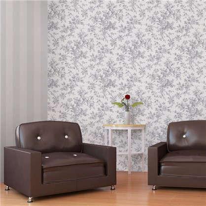 Обои на бумажной основе EcoStyle Жуи 5 53x10.05 м цвет серый