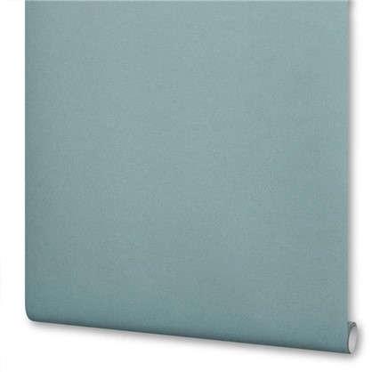 Обои на флизелиновой основе 0.53х10 м однотон цвет бирюзовый Ra 606348