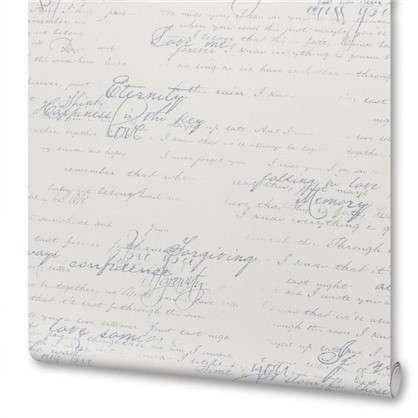 Обои на флизелиновой основе 0.53х10 м письмо цвет синий Ra 449587