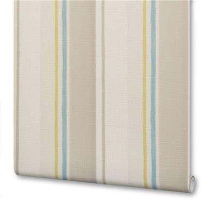 Обои на флизелиновой основе 0.53х10 м полосы цвет голубой Id 81203