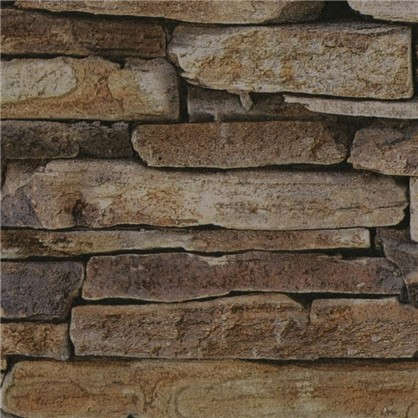 Обои на флизелиновой основе 053х10 м камень бежевый AS9142-17