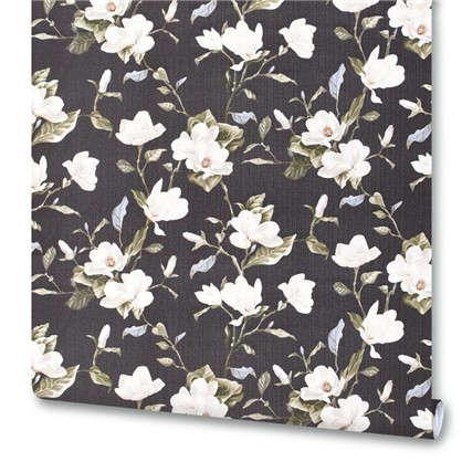 Обои на флизелиновой основе Цветы 1.06х10 м цвет черный Им 159000-29