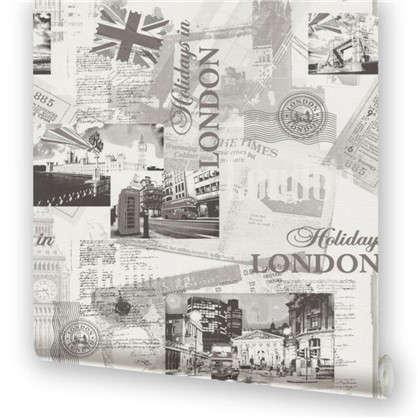 Обои на флизелиновой основе Лондон 0.53х10.05 м цвет черно-белый 3