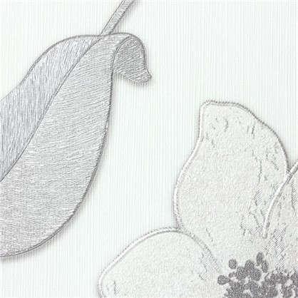 Обои на флизелиновой основе Malex Desing Лотос 1.06x10.05 м цвет белый/серый