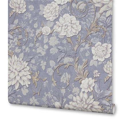 Обои на флизилиновой основе Цветы 1.06х10 м цвет синий PP 8717-66