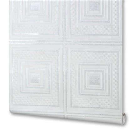 Обои виниловые 0.53х10 м квадраты цвет белый 78148