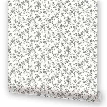 Обои виниловые Веста 0.53х10 м цвет черно-белый Эл 22705