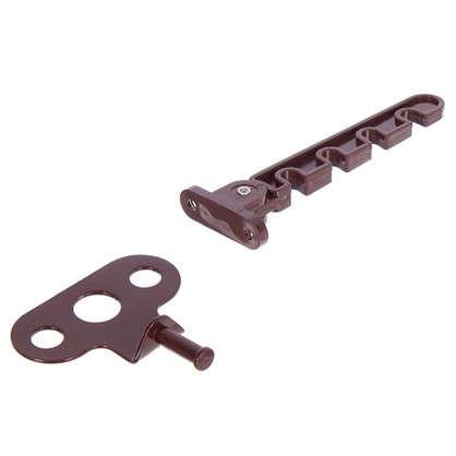 Ограничитель оконный для ПВХ окна 105 мм ABC/сталь цвет коричневый