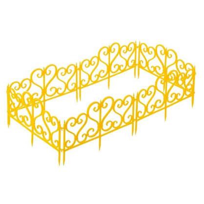 Ограждение садовое декоративное Ажурное цвет жёлтый