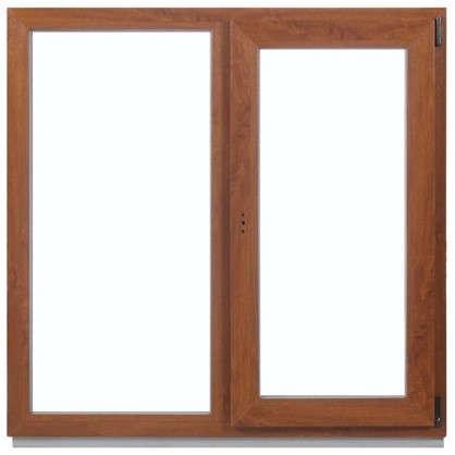 Окно ПВХ двухстворчатое 120x100 см глухое/поворотно-откидное правое