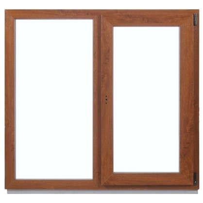 Окно ПВХ двухстворчатое 120x120 см глухое/поворотно-откидное правое