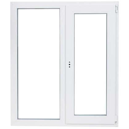 Окно ПВХ двустворчатое 120х100 см глухое/поворотно-откидное правое