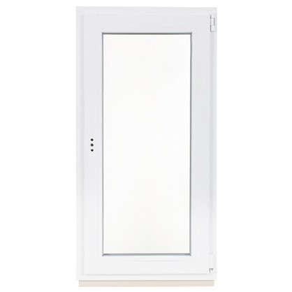 Окно ПВХ одностворчатое 120х60 см поворотно-откидное правое
