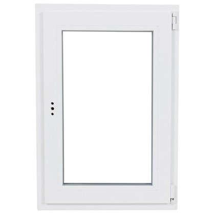 Окно ПВХ одностворчатое 120х80 см поворотно-откидное правое