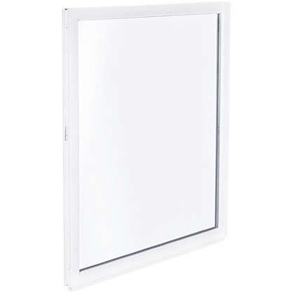Окно ПВХ одностворчатое 90х60 см глухое