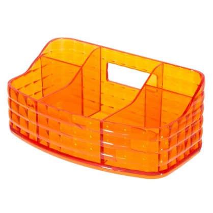 Органайзер для ванной комнаты цвет оранжевый