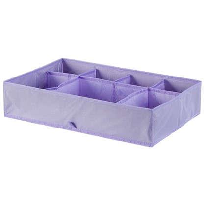 Органайзер для ящиков Spaceo 49х34х11 см цвет фиолетовый