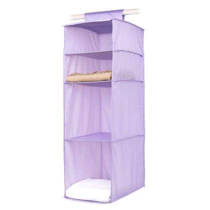 Органайзер подвесной Spaceo 4 полки 30х40х90 см цвет фиолетовый