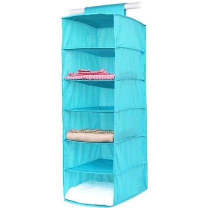 Органайзер подвесной Spaceo 6 полок 30х40х90 см цвет голубой