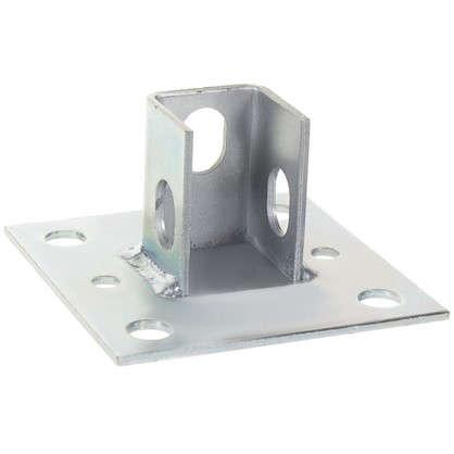Основание потолочной стойки под профиль 100x100x3 мм сталь
