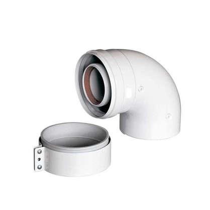 Отвод коаксиальный 60x100 мм 90 г алюминий