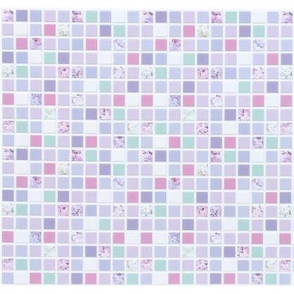 Панель ПВХ Мозаика сиреневая 960х480 мм 0.46 м2