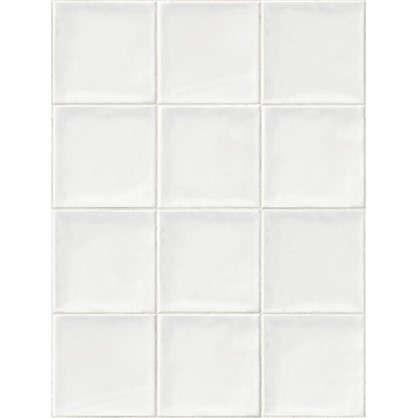 Панель ПВХ Плитка белая 2700х375 мм