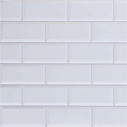 Панель ПВХ Плитка белая 966х484 мм 0.47 м2
