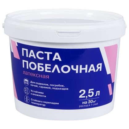 Паста побелочная латексная цвет белый 3.8 кг 2.5 л в