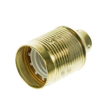 Патрон металлический E27 цвет золотой