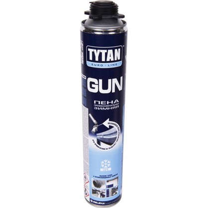 Пена монтажная пистолетная Tytan профессиональная зимняя О2 750 мл