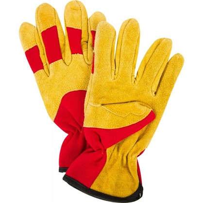 Перчатки садовые hq-15-XL кожа/спандекс