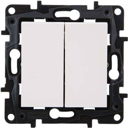 Переключатель Legrand Structura 2 клавиши цвет белый