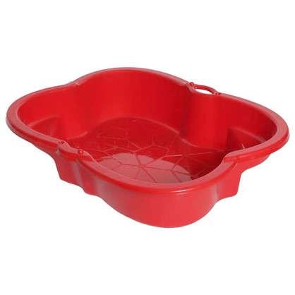 Песочница детская красная пластиковая 96х72 см
