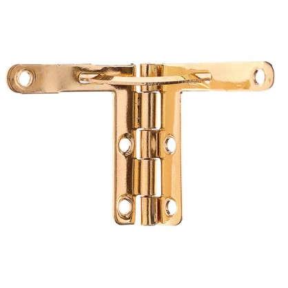 Петля для шкатулок с ограничителем 32x30 мм цвет золото 2 шт.