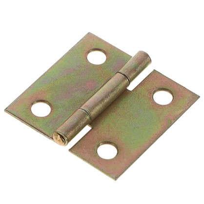 Петля карточная Gah Alberts 31х31х0.8 мм сталь оцинкованная цвет желтый 2 шт.