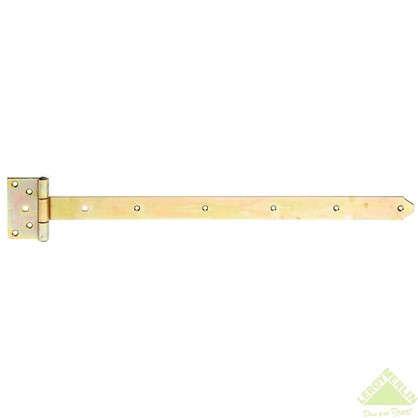 Петля Т-образная Gah Alberts 60x110x40x600 мм сталь цвет желтый