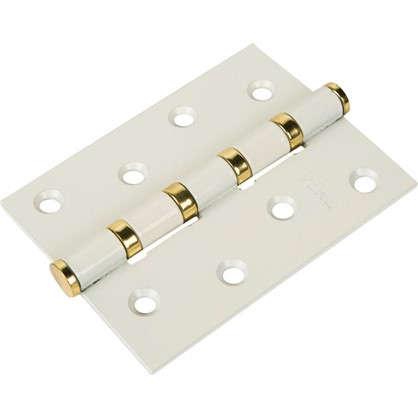 Петля универсальная Home 100х75х2.5 мм сталь цвет белый/латунь
