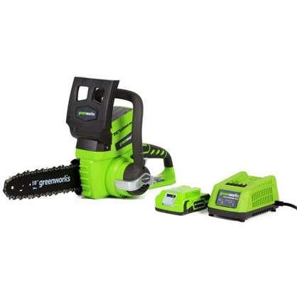 Пила цепная аккумуляторная Greenworks 24 В с зарядным устройством