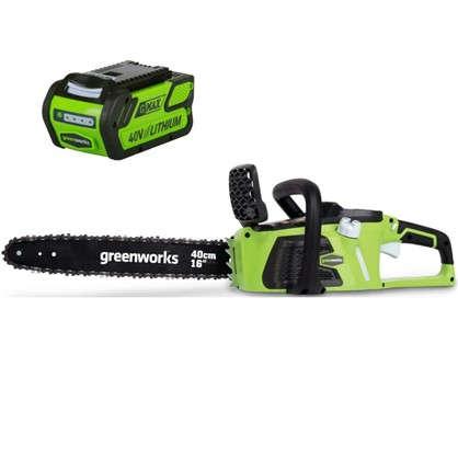 Пила цепная аккумуляторная GreenWorks 40 В безщёточный двигатель без аккумулятора и зарядного устройства в комплекте