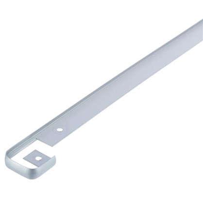 Планка для столешницы соединительная 2.6 см цвет матовый хром