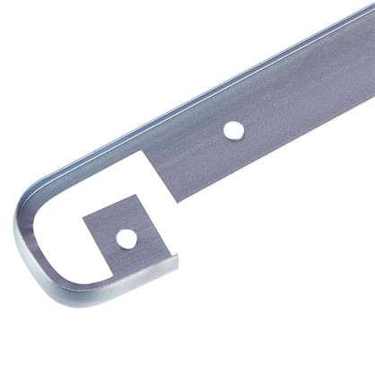 Планка для столешницы соединительная 2.8 см цвет матовый хром