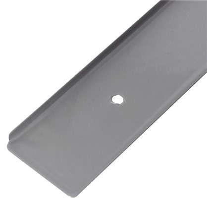 Планка для столешницы торцевая 38 мм металл цвет серебристый