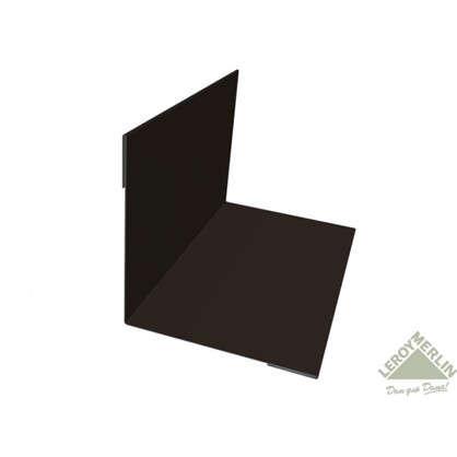 Планка для внутренних углов с полиэстеровым покрытием 2 м цвет коричневый